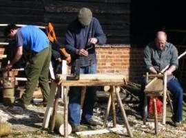 Rake making by the Great Barn