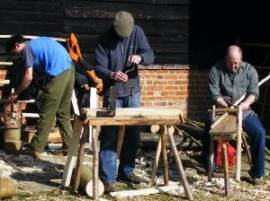 Rake making by the Great Barn