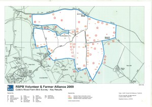 The RSPB 2009 farmland bird survey at Cobbs Wood farm