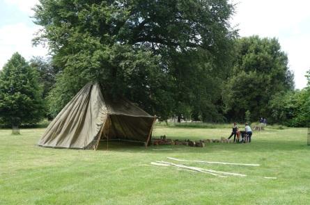 The parachute tent