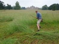 Chris mowing a 1/4 acre