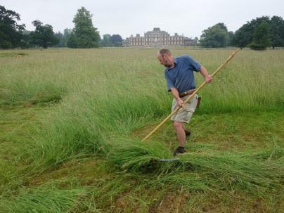 Chris Riley undertaking the quarter acre