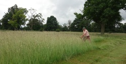 Richard Brown mowing his 1/8