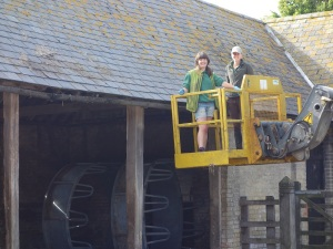 Cleaning the gutters on the farm