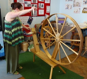 the original spinning wheel before the industrial revelution