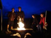 Evening's fire