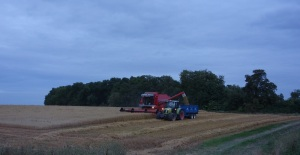 Little end field oats getting harvested