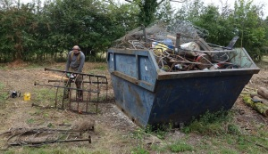 Brought more scrap metal from the woodyard to dispose of