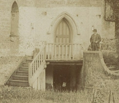 19th Century Photograph with balcony and stair in place