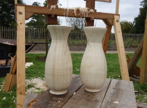 Tony spun up two identical vases 'swot'