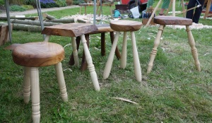 Four of six enteries for the stool competition