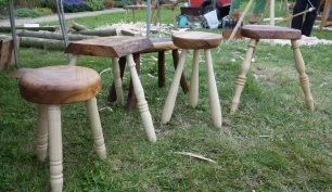 Four of six entries for the stool competition