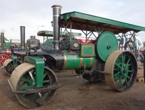 Steam roller at Cheefins vintage auction