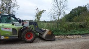 Repairing the track to Cobbs wood farm