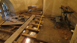 3-The Upper Mezzanine, cleaned and joist replacement in progress