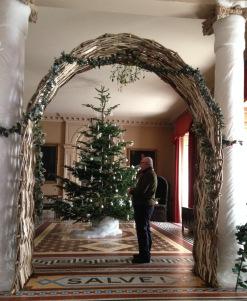 Hazel arch and a wee bit of mistletoe