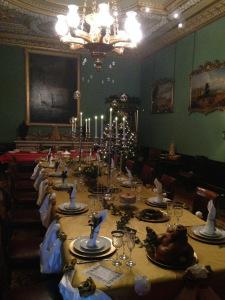 The Christmas dinner table