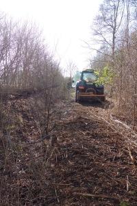 Mulching the woodland ride