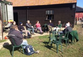 Lunch at Cobbs wood farm for the CNTV