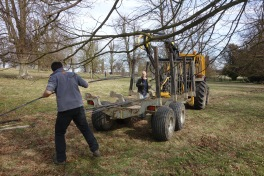 Moving the flat steel to the other end of the park