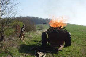 Burning some of the posts