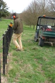 Cutting the top rail