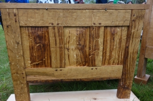 The back of a coffer chest