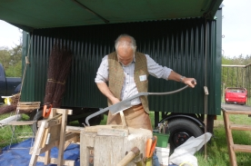 Tent peg making