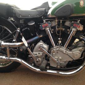 BSA motor bike- green with envy