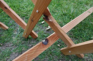 Knotty timber