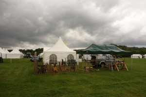 Setting up for the county show