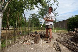 Mick's hazel fence in the gardens
