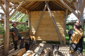A green wood building project