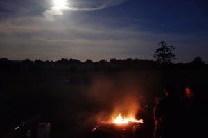 Saturday night and bright moon