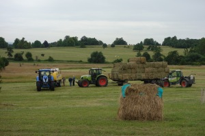32 bales of hay all done in less than two hours