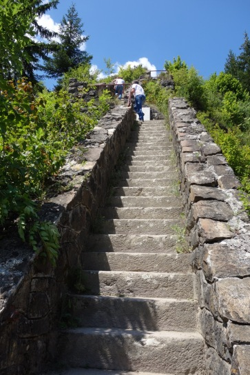 Up some steps