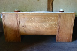 Really wide riven planks used for this coffer box
