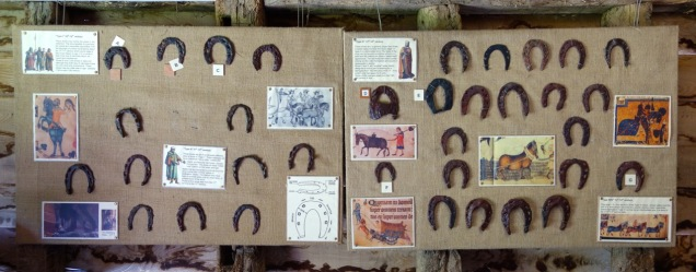 Horse shoe display