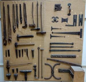 The blacksmith display