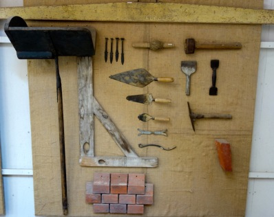The bricklayers display