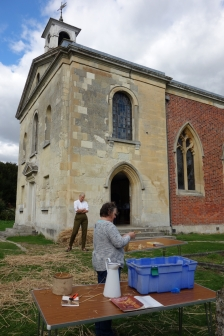 Wimpole parish church corn dolly workshop