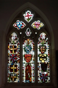 The medieval stain glass window
