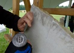 Simon Lansdale letter carving