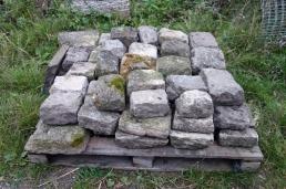 Stored limestone sets