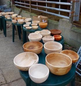 Jims 52 pole lathed bowls