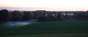 Mist sneaking in