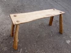 Cleft oak bench
