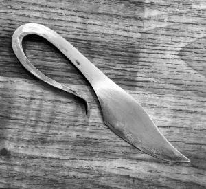 Polished Viking Damascus knife