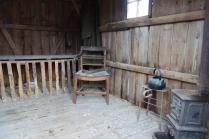 Inside the shepherds hut
