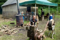 Alex the resident blacksmith and charcoal burner